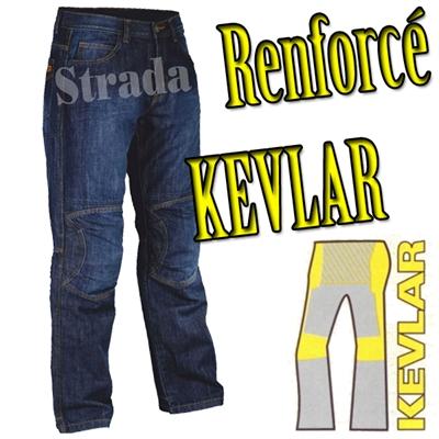 Jeans moto Strada warmup Renfort Kevlar