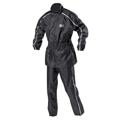 Ensemble de pluie moto DG techwear : pantalon + veste avec bandes réflechissantes