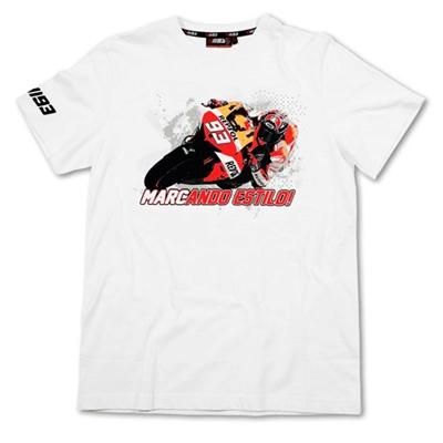 Tee-shirt Marc Marquez 93 Blanc