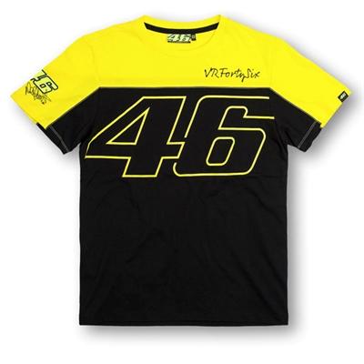 Tee shirt VR46 noir jaune