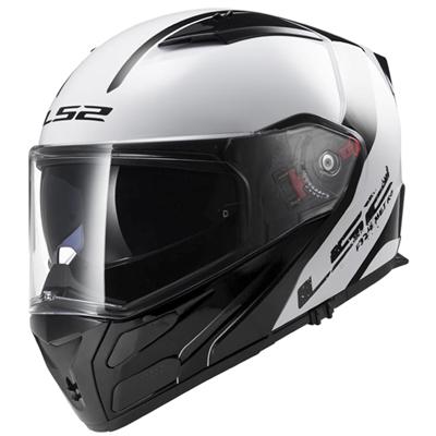 Casque moto LS2 FF324 Metro Rapid blanc noir