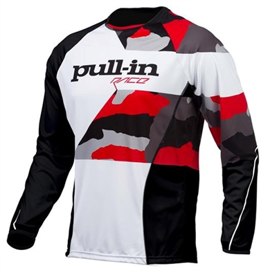 Maillot cross Pull In camo blanc rouge