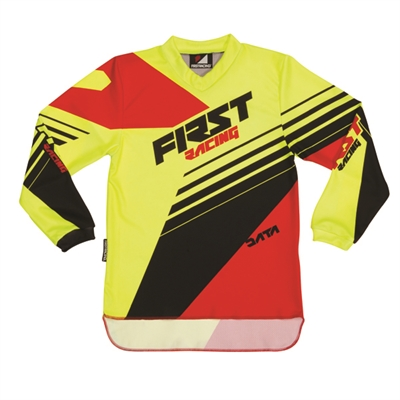 Maillot First racing Data rouge