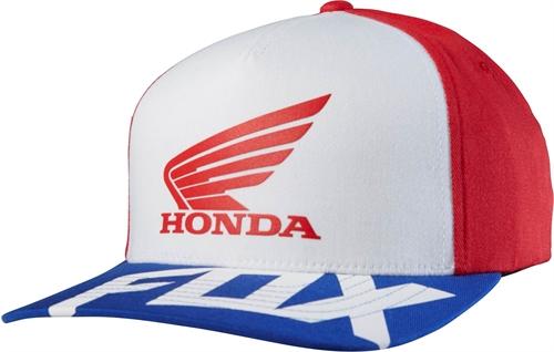 Casquette Fox Honda Basic Rouge Blanc