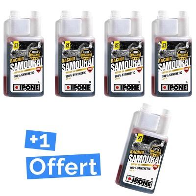 Pack Ipone Moto 2 temps Samourai Racing huile moteur 4 bidons d