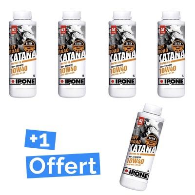 Pack Ipone 10W40 Katana Off Road huile moteur 4 bidons d