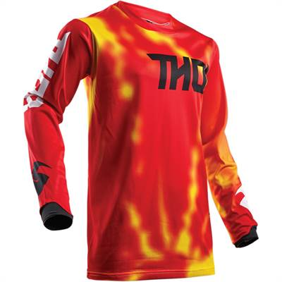 Maillot cross Thor S8 Pulse Air Radiate Rouge