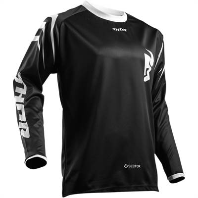Maillot cross Thor S8 Sector Zones Noir