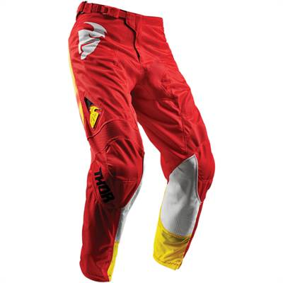 Pantalon cross Thor S8 Pulse Air Radiate Rouge