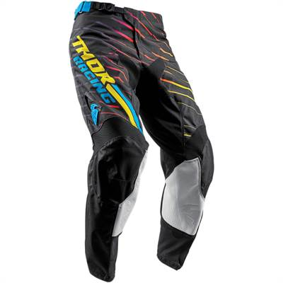 Pantalon cross Thor S8 Pulse Rodge Multi Noir/Jaune
