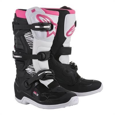 Bottes cross femme Alpinestars Stella Tech 3 Noir/Blanc/Rose