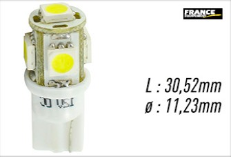 Lampes led W5W France Equipement