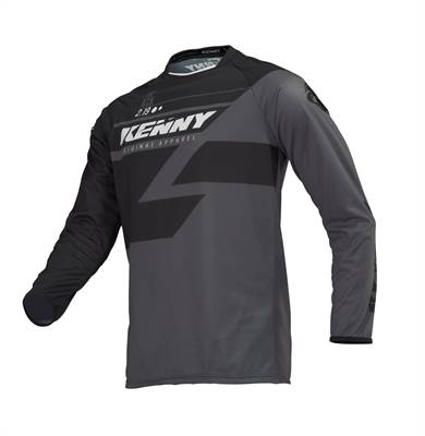 Maillot Cross Kenny 2019 Track Adulte Noir/Gris