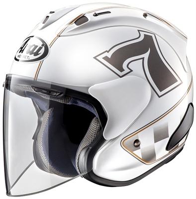 Casque Jet Arai SZ-RAM X Café Racer blanc