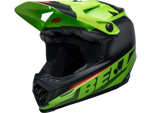 Casque cross BELL Moto-9 Youth Mips Glory vert/noir