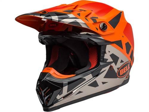 Casque cross BELL Moto-9 MIPS Tremor mat/Gloss noir/Orange/Chrome