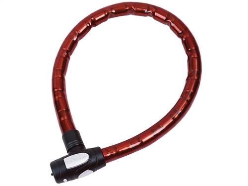 Antivol type câble Oxford Barrier 1,5m x 25mm couleur rouge