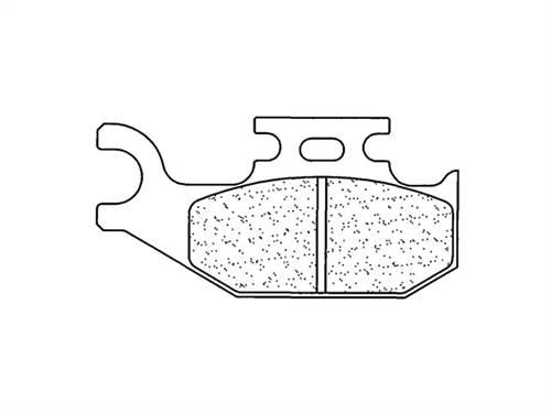 Plaquettes de frein CL Brakes métal fritté indice ATV1