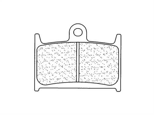 Plaquettes de frein CL Brakes métal fritté racing indice C60