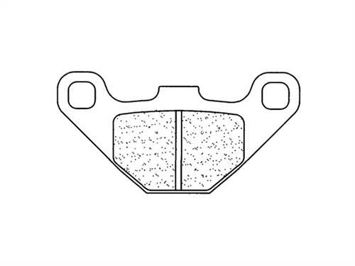 Plaquettes de frein CL Brakes métal fritté indice EN10