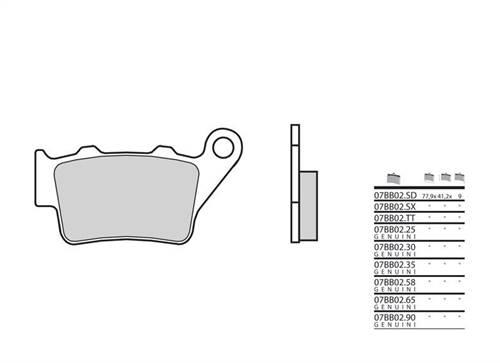 Plaquettes de frein Brembo carbone céramique indice TT