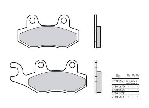 Plaquettes de frein Brembo métal fritté indice SX