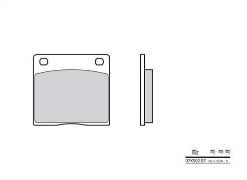 Plaquettes de frein Brembo organique indice KS