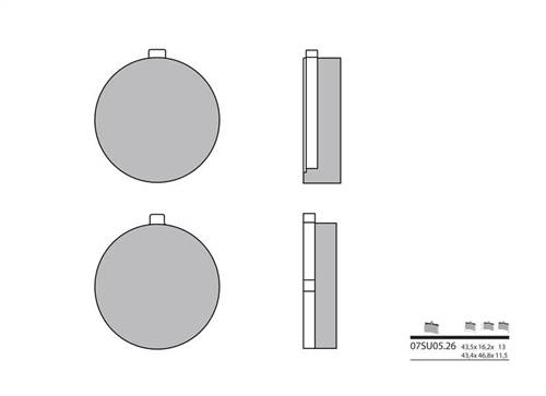 Plaquettes de frein Brembo organique indice SU