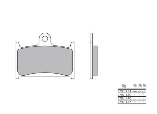 Plaquettes de frein Brembo carbone racing indice RC