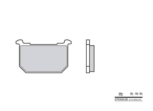 Plaquettes de frein Brembo organique indice KA