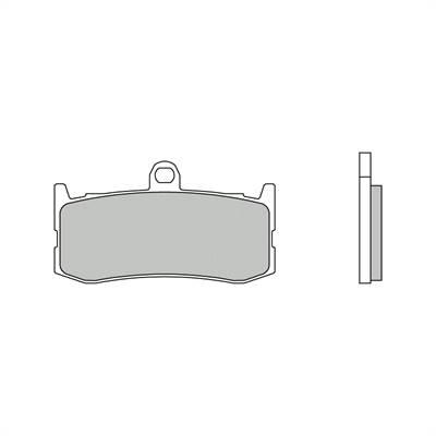 Plaquettes de frein Brembo métal fritté indice SA