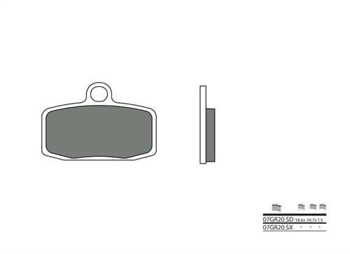 Plaquettes de frein Brembo métal fritté indice SD