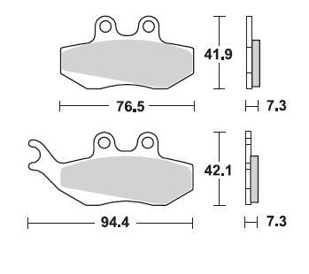 Plaquettes de frein Braking semi-métallique SM1