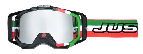 Masque marque Just1 Iris Italia vert/blanc/rouge