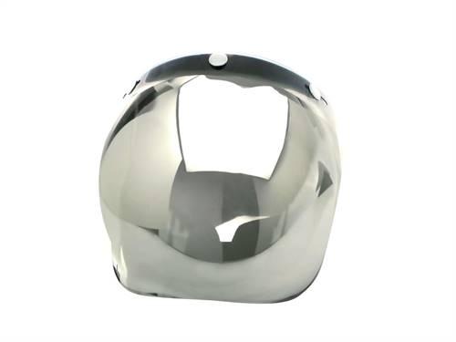 Visière universelle V PARTS Bubble chrome argent avec flip-up