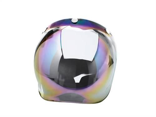 Visière universelle V PARTS Bubble chrome irridium avec flip-up