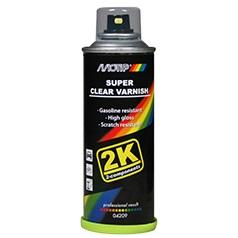 Vernis 2k marque Motip spray super transparent 160ml