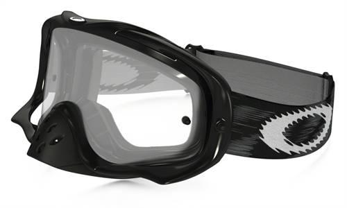 Masque marque Oakley Crowbar MX Jet noir Speed écran transparent