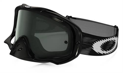 Masque marque Oakley Crowbar MX Jet noir Speed écran Dark Grey