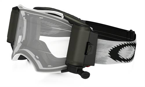 Masque marque Oakley Airbrake MX Race-Ready Roll-Off Matte blanc Speed écran transparent