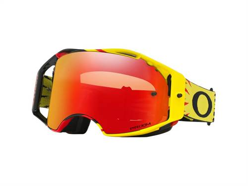 Masque marque Oakley Airbrake MX High Voltage jaune/Red écran Prizm MX Torch Iridium