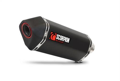 Ligne complète Scorpion Serket inox silencieux noir céramique/casquette noir ABS