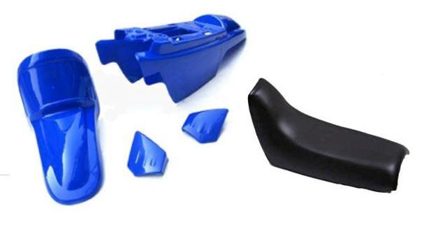 Kit plastique ART origine bleu avec selle complète noire Yamaha PW50