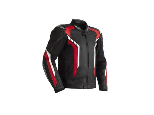 Blouson RST Axis CE cuir rouge homme