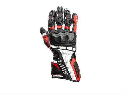 Gants RST Axis CE cuir rouge homme