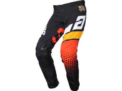 Pantalon ANSWER Elite Korza noir/blanc/Bus/Orange