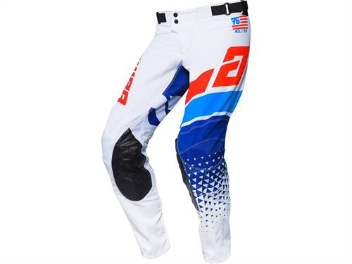 Pantalon ANSWER Elite Korza blanc/rouge/bleu
