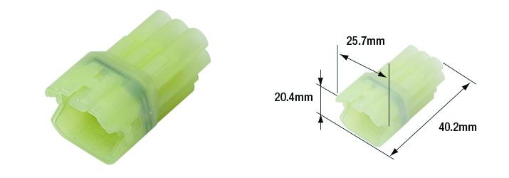Connectique électrique femelle étanche marque Tourmax type 090