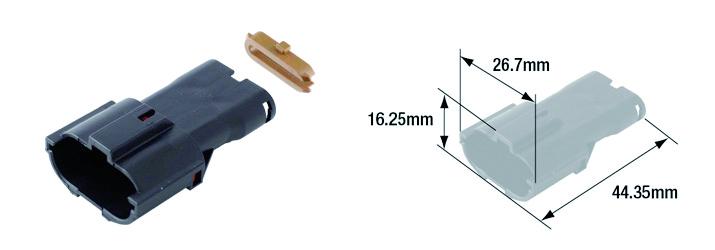 Connectique électrique femelle étanche marque Tourmax type 070