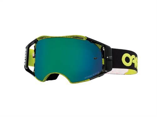 Masque marque Oakley Airbrake Thumbprint vert Factory Pilot écran Prizm MX Jade Iridium